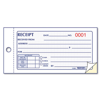 Rediform Small Money Receipt Book