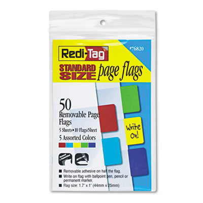 Redi-Tag Removable/Reusable Standard Page Flags Value Pack