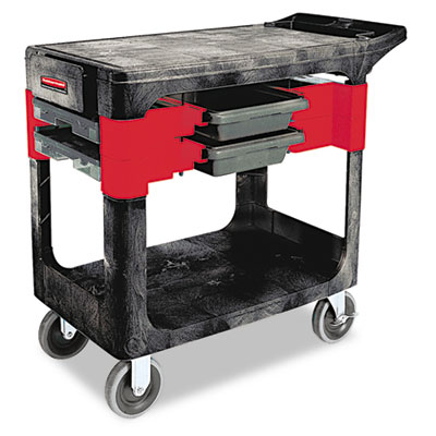 Rubbermaid Commercial Two-Shelf Trades Cart