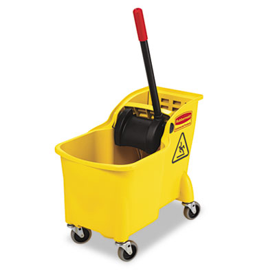 Rubbermaid Commercial Tandem 31-Quart Bucket/Wringer Combo