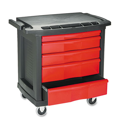 Rubbermaid Commercial Five-Drawer Mobile Workcenter