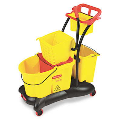 Rubbermaid Commercial WaveBrake Mopping Trolley Side Press
