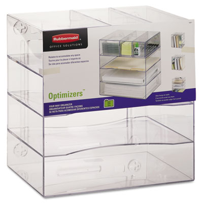 Rubbermaid Optimizers Multifunctional Four-Way Organizer with Drawers