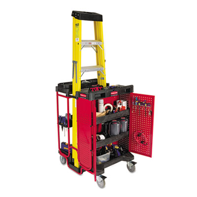Rubbermaid Commercial Ladder Cart with Cabinet