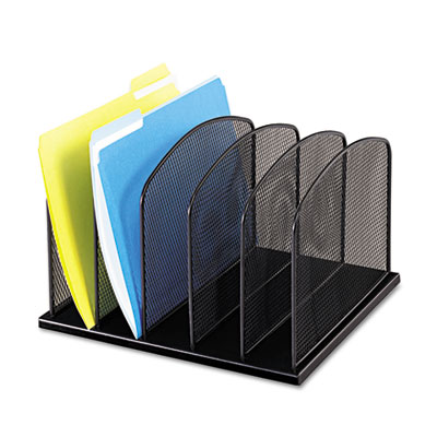 Safco Onyx Mesh Desk Organizer with Upright Sections