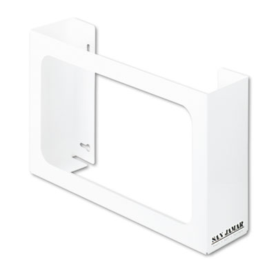 San Jamar White Enamel Disposable Glove Dispenser, Three-Box