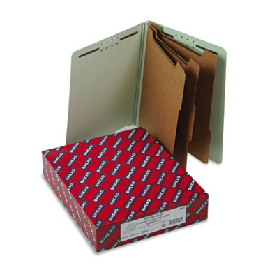 Smead End Tab Pressboard Classification Folders With SafeSHIELD Coated Fasteners