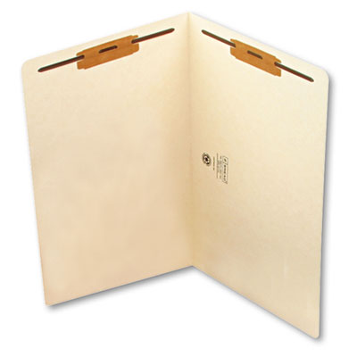 Smead Heavyweight Manila End Tab Folders with Fasteners