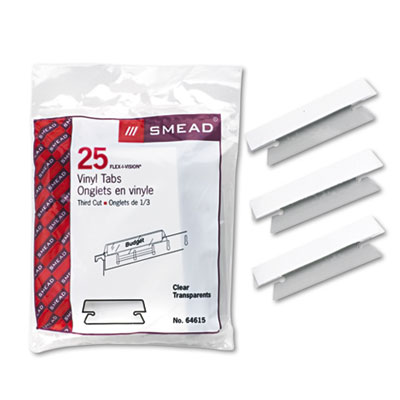 Smead Poly Index Tabs & Inserts For Hanging File Folders