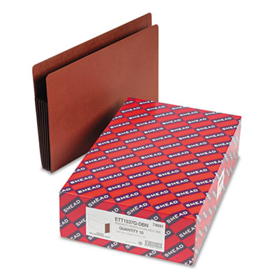 Smead Redrope Drop-Front End Tab File Pockets with Colored Tyvek Gussets
