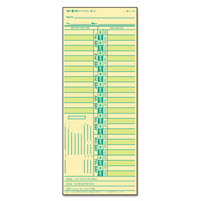 TOPS Time Clock Cards