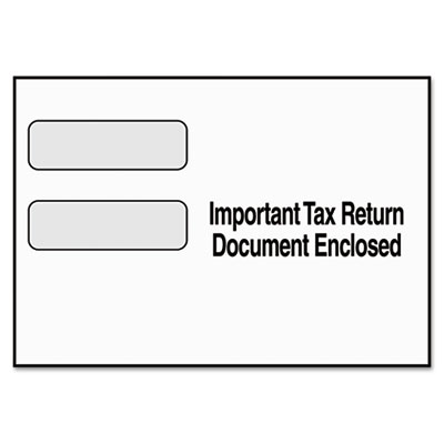 TOPS Double Window Tax Form Envelope
