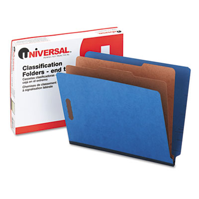 Universal One Six-Section Colored Pressboard End Tab Classification Folders