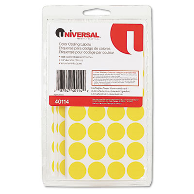 Universal Self-Adhesive Permanent Color-Coding Labels