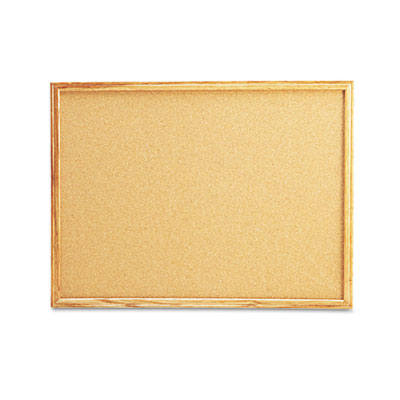 Universal Cork Board with Oak Style Frame