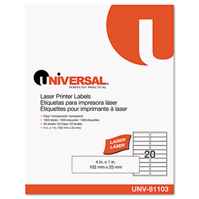 Universal One  Clear Multiuse Permanent Self-Adhesive Labels