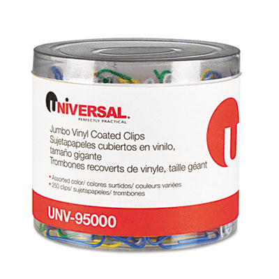 Universal One Vinyl Coated Wire Paper Clips