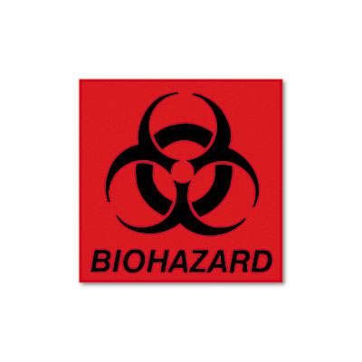 Rubbermaid Commercial Biohazard Decal