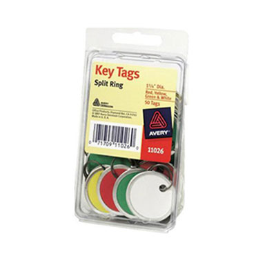 Avery Metal Rim Key Tags