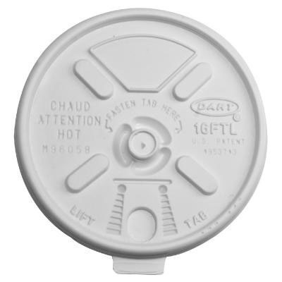 Dart Lift n' Lock Plastic Hot Cup Lids