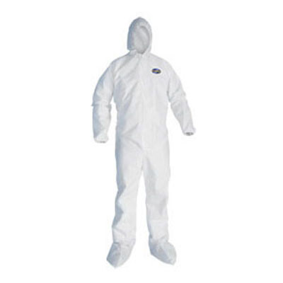 KIMBERLY-CLARK PROFESSIONAL* KLEENGUARD* A80 Elastic-Cuff Hood & Boot Coveralls