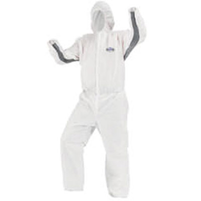 KIMBERLY-CLARK PROFESSIONAL* KLEENGUARD* A30 Elastic-Back and Cuff Hooded Coveralls