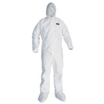 KIMBERLY-CLARK PROFESSIONAL* KLEENGUARD* A20 Elastic Back and Cuff Hood and Boot Coveralls