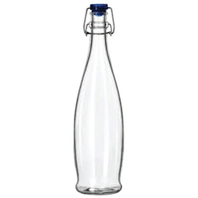 Libbey Glass Water Bottle with Wire Bail Lid