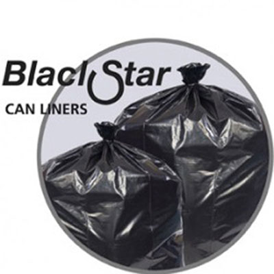 Penny Lane Black Star Low-Density Can Liners
