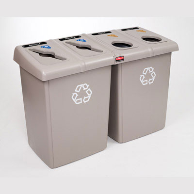 Rubbermaid Commercial Glutton Recycling Station