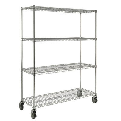 Rubbermaid Commercial Mobile Shelving Rack for ProSave Shelf Ingredient Bins