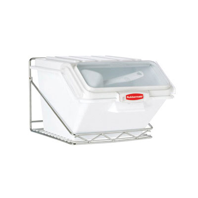 Rubbermaid Commercial ProSave Shelf Ingredient Bin Wall-Mount Rack