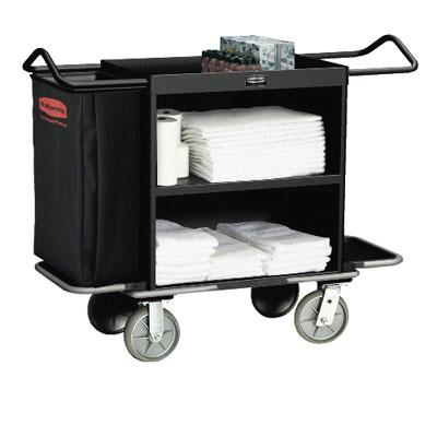 Rubbermaid Commercial High-Capacity Housekeeping Cart