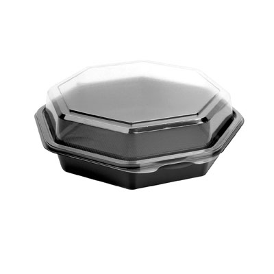 SOLO Cup Company OctaView Hinged-Lid Cold Food Containers