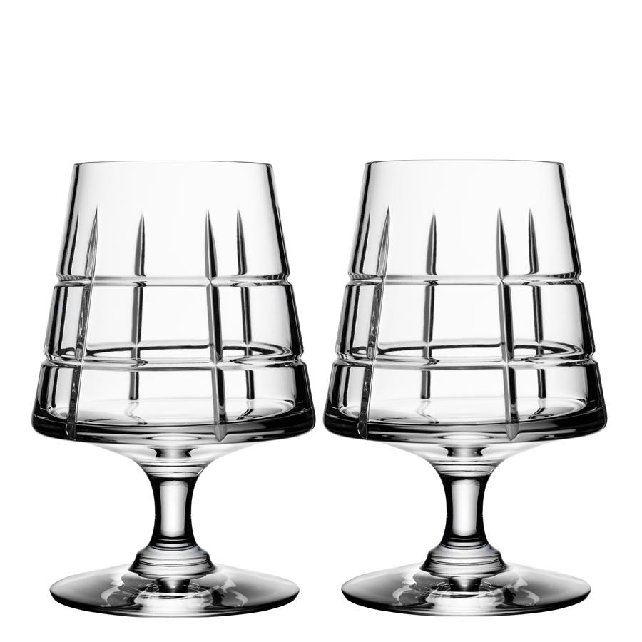 Orrefors Street Cognac Pair
