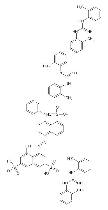 <em>4-</em>[(4-anilino-5-sulfonaphthalen-1-yl)diazenyl]<em>-5-hydroxynaphthalene-2</em>,<em>7-disulfonic</em> <em>acid</em>;1,2-bis(2-methylphenyl)guanidine
