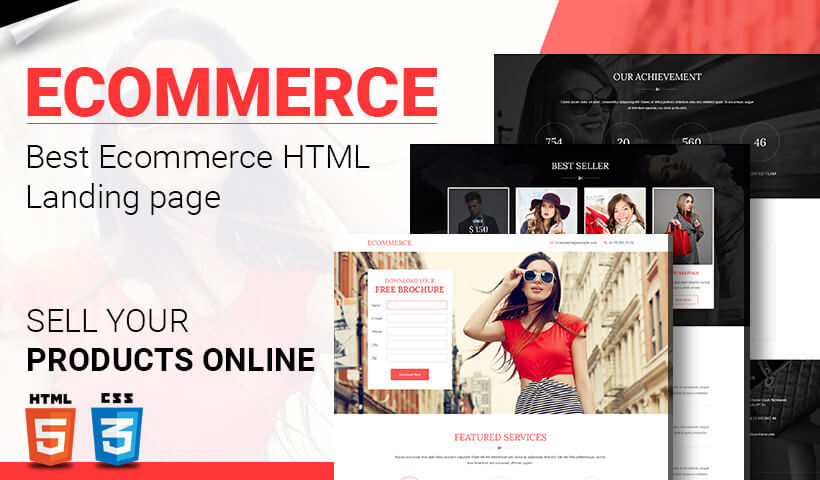 Lead Generating Ecommerce Stores Responsive html5 Landing Page Template