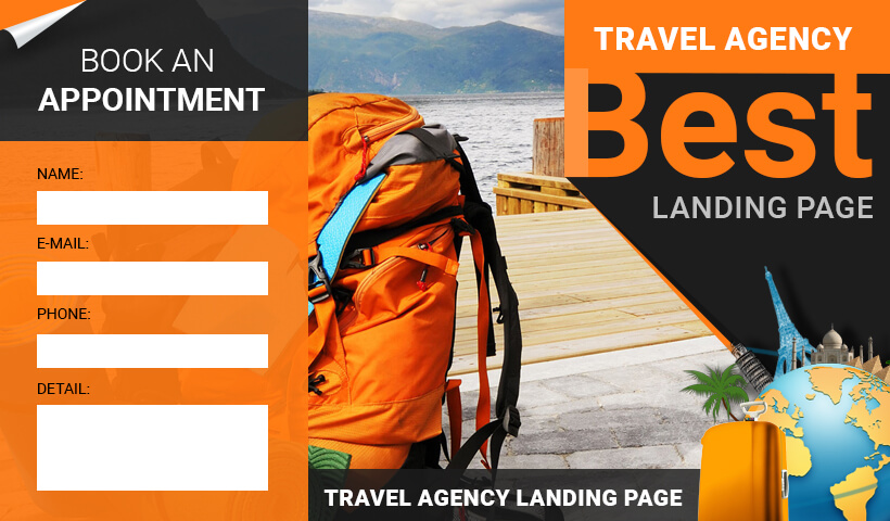 Lead Generating Travel Agencies Responsive html5 Landing-page Template