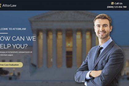 Landing Page For Law