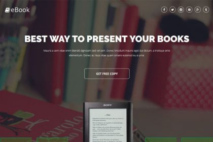 EBook Landing Page Template