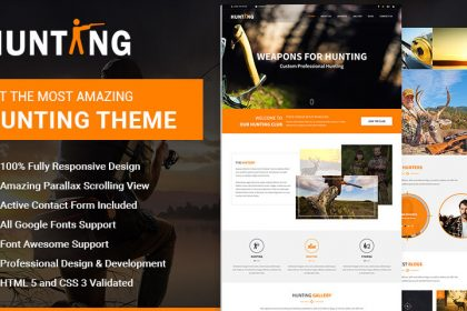 Hunting Responsive HTML Theme