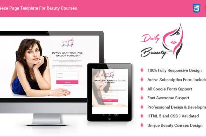 Spa & Beauty Salon Squeeze Page