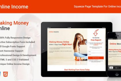 Online Income Squeeze Page