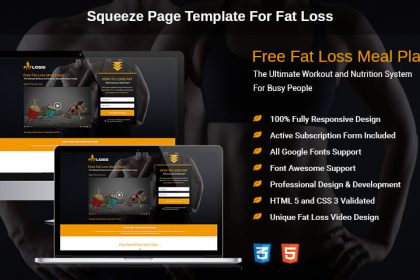 Fat Loss Squeeze Page
