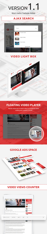 MyTube - Best Youtube Style Video Sharing Responsive Wordpress Theme