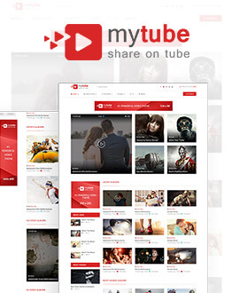 Youtube, Vimeo & Daily Motion Clips WordPress Theme Website Template