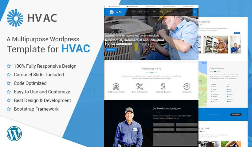 latest air conditioner repair hvac wordpress theme 2018