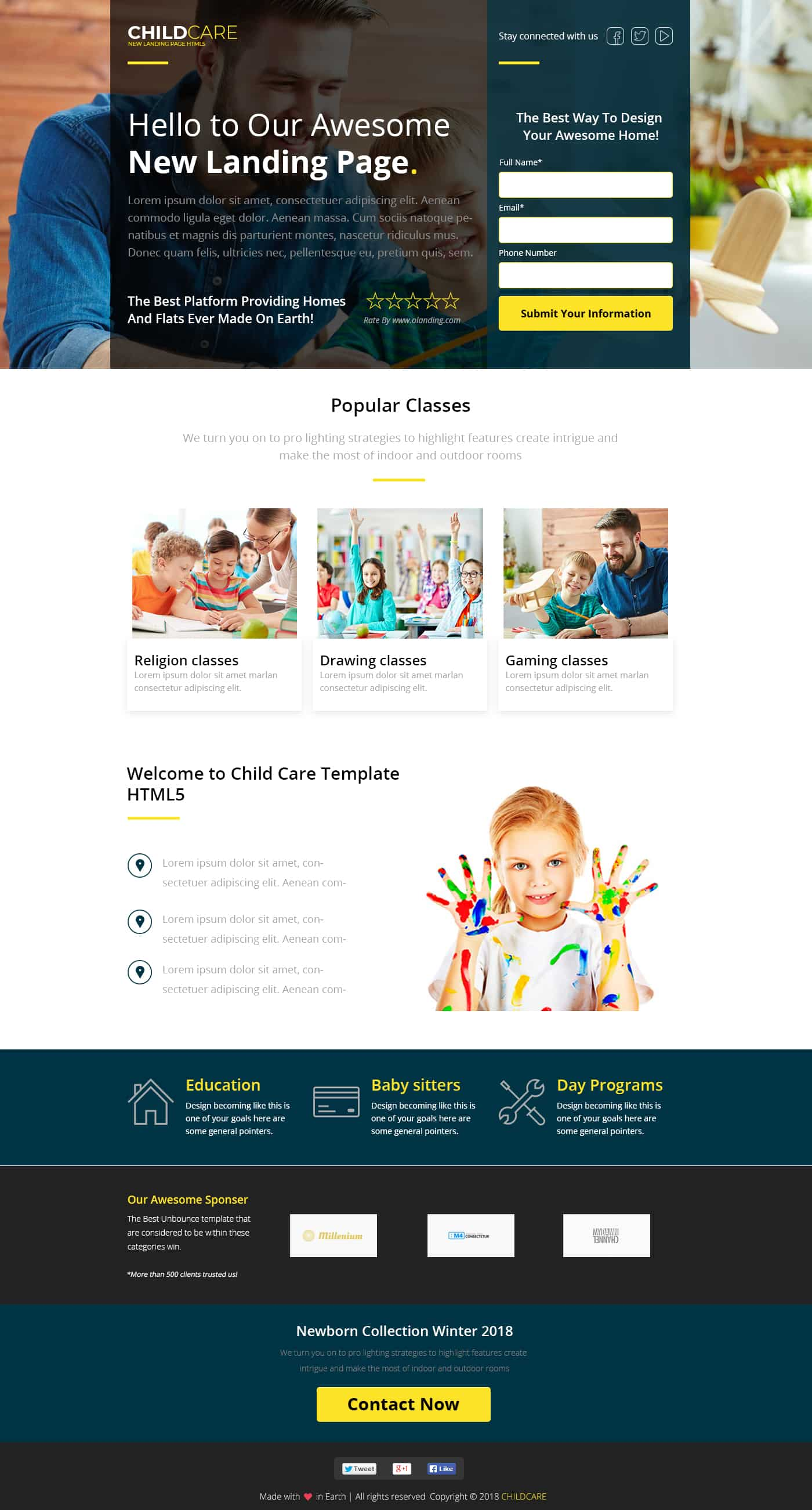 Child Care Landing Page