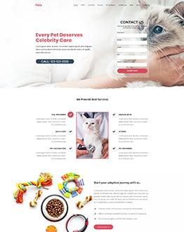 Pet Landing Page Temp