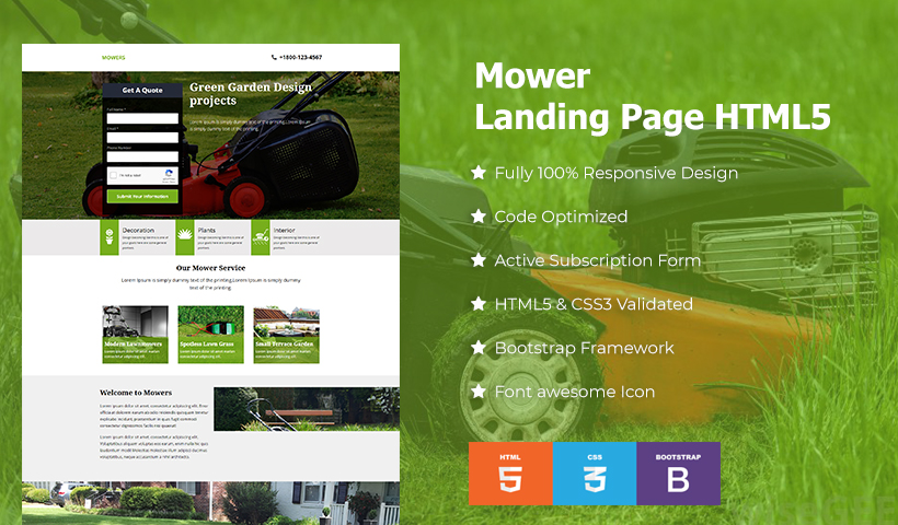 Movers Landing Page Template